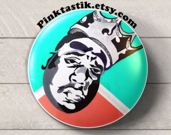 90's Birthday Buttons, 90's Hip Hop Party Buttons, Biggie Smalls party, 90's party, 90's party favors, 90's pins, Hip Hop party favors,