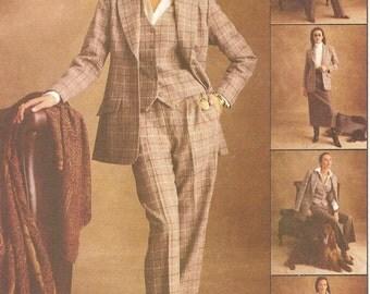 Lined Jacket Vest Pants Skirt Sz 16 18 20 22 Pattern