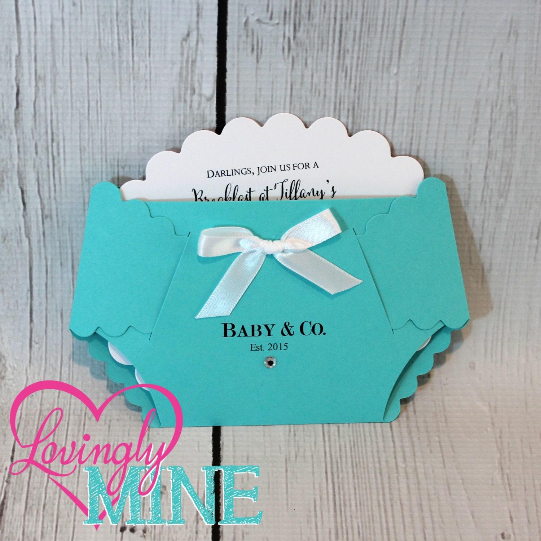 Customizable Baby & Co Diaper Shape Invitations Set of 10