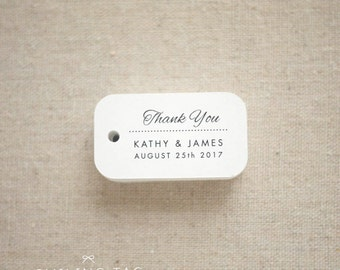 Thank You Wedding Favor Tags - Personalized Gift Tags - Custom Wedding Favor Tags - Bridal Shower Tags - Set of 40 (Item code: J559)