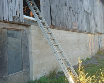 Barn and Ladder Digital Print or Backdrop