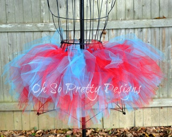 Baby, Kids, Adult, Plus Red & Turquoise Tutu