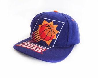 vintage baseball hat / Phoenix Suns hat / 90s snapback / 1990s Phoenix Suns spell out snap back hat cap