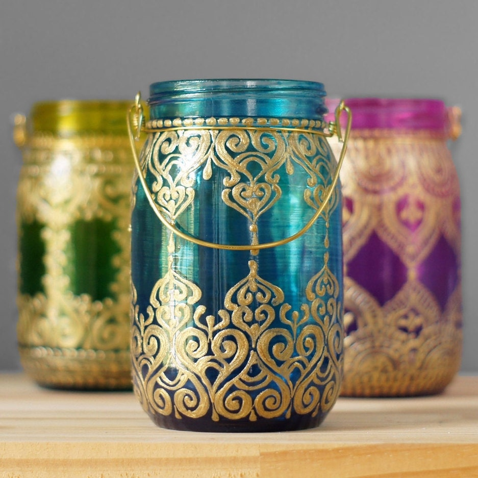 Mason Jar Eclectic Home Decor Moroccan Style Hanging Lantern