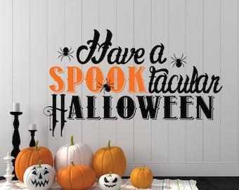 halloween decal halloween halloween wall decal spider decal spider wall decal - Halloween Window Decals