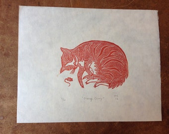 Orange Ginny Print