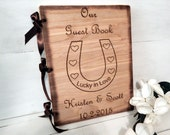 Guest Book, Guest Books,Wedding Guest Book, Rustic Wedding, Words of Wisdom Book, Personalized, Horse Shoe, Horse Lovers, Horse Wedding