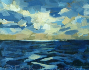 Small Oil Painting of Sea and Sky