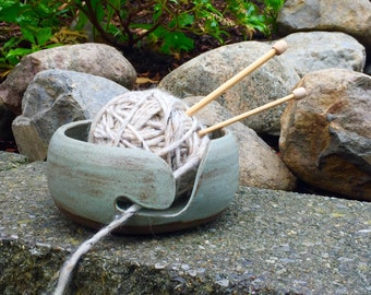 Minimalist Yarn bowl, Stoneware Ceramic Pottery