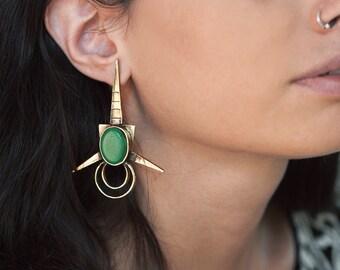 Green river earrings