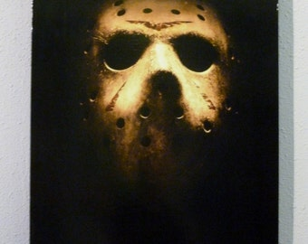 Jason Voorhees Friday the 13th Horror Poster Art Canvas Frame Mask