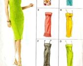 Vogue V8069 Easy Options Misses' Dress with Hem and Neckline Variations Sewing Pattern