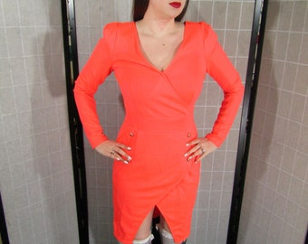 Orange Double Breast Dress; Mad Men Style