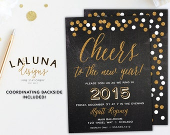 New Year's Invitation New Year's Eve Party New