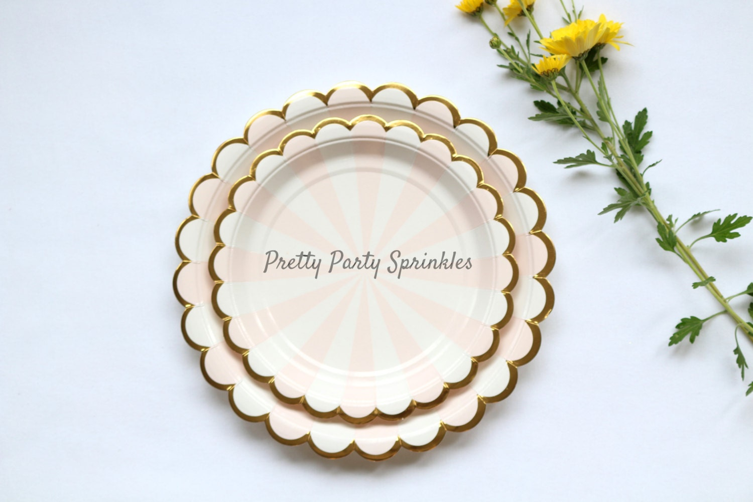 pink and gold foil paper plates dessert plates dinner. Black Bedroom Furniture Sets. Home Design Ideas