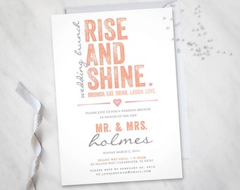 Rise and Shine – Wedding Brunch Invitation (Digital file)