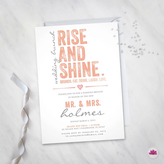 Wedding brunch invitations for Wedding brunch invitations