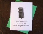 Woodchuck notecard