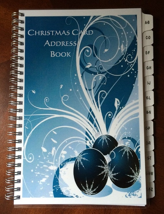 Christmas Card Address Book TABS A-Z 8 yrs 475 entries