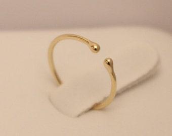 14k Toe ring, 14k Beads ring, 14k thumb ring, 14k midi ring, 14k skinny ring, 14k stack ring, 14k knuckle ring, 14k ball ring, Gold Ring