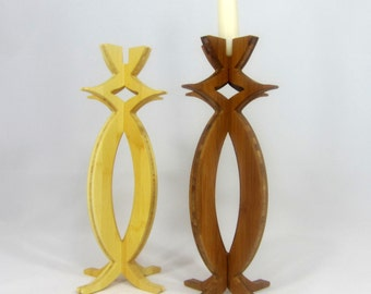Solstice Candlestick in bamboo, candle holder, candelabra, candle, wedding gift, engagement gift, housewarming gift