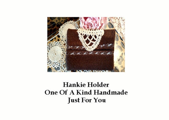 Chocolate Brown Hankie Take Along Storage Keeper