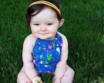 Headband for Babies, Yellow Baby Headband, Two Strand Headband, Baby Headband, Newborn Headband, Infant Headband, Suede Headband