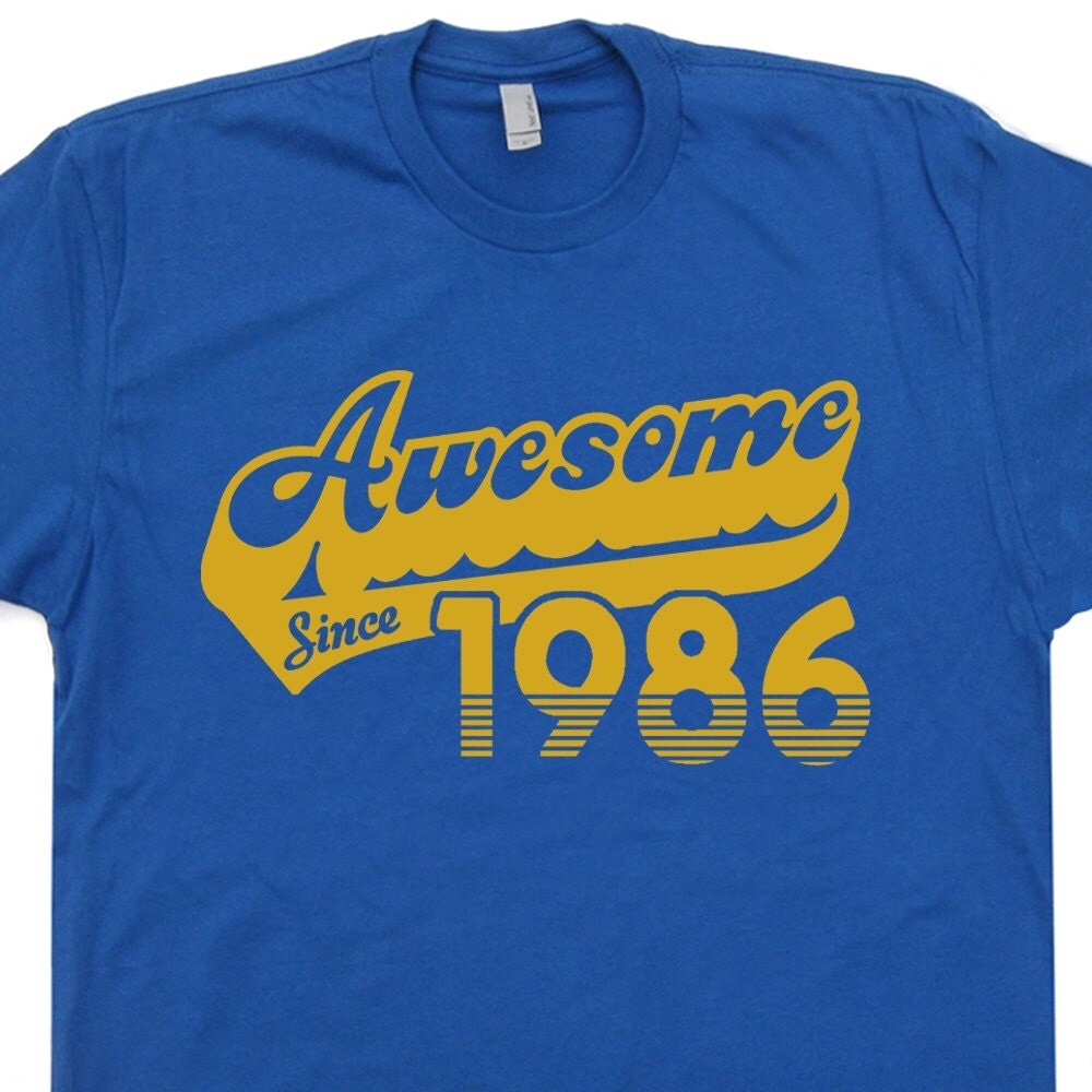 T-shirt design for zumba - Awesome Since 1986 T Shirt 31st Birthday T Shirt Funny Mens Womens Birthday T Shirt Vintage 31st Birthday Shirt 80s Retro T Shirt