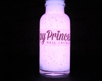 Bonnibel - Handmade Glow in the Dark & UV Glitter Nail Polish - Vegan - 5 Free - Adventure Time