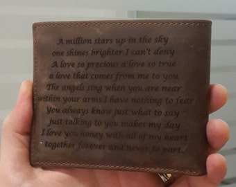 mens wallet, wallet, leather wallet, fathers day gift, anniversary gifts for men, personalized wallet, engraved wallet, christmas gift