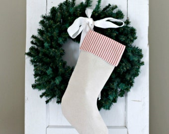 Candy Cane Cuff Christmas Stocking