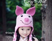 Piglet Piggy Hat MADE to ORDER in ALL Sizes
