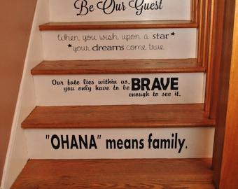 Disney Stair Quotes Disney Steps Disney Quotes Vinyl Quotes Step Quotes Disney Decor Disney Home Disney