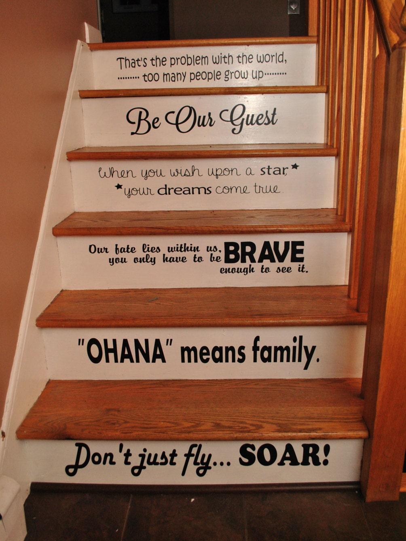 Disney Stair Quotes Disney Steps Disney Quotes Vinyl Quotes