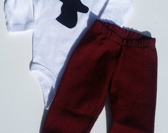 Infant Coming Home Outfit Baby boy pant set Deer Antler Elk Coming home outfit Little hunter outfit Daddys boy