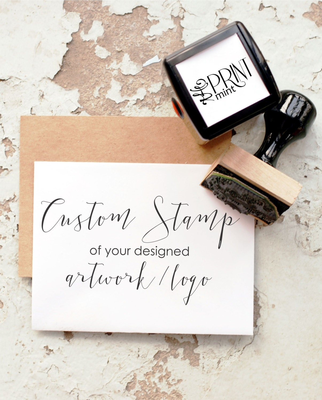 Custom Stamp, Custom Logo Stamp, Business Card Stamp, Personalized ...