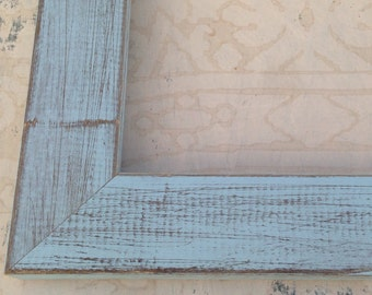 Rustic Cottage Blue Picture Frame 4x4, 4x6, 5x5, 5x7, 8x8, 8x10, 8.5x11, 11x14  Blue Beach Cottage Custom Frame
