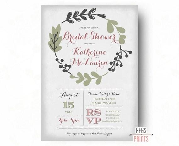 Fern bridal shower invitation shabby chic bridal shower il570xn filmwisefo Choice Image