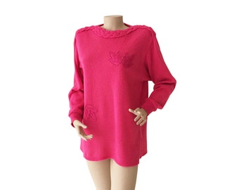 Magenta 80s Knit Sweater Size S - M | US 6 - 8 |  UK 8 - 10