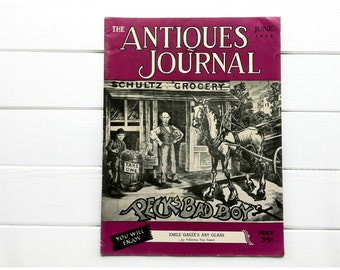 Vintage American Antiques Journal / 1952 Magazine / Antique Magazine / Urban Vintage / Vintage Reference Magazine