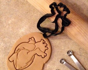 3D Printed Anatomical Human Heart cookie cutter
