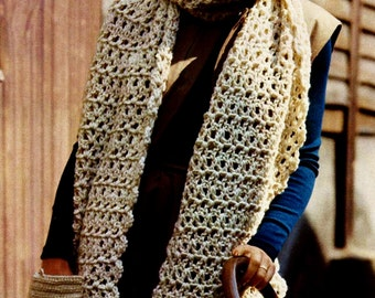 Pocket Scarf Vintage Crochet Pattern Download