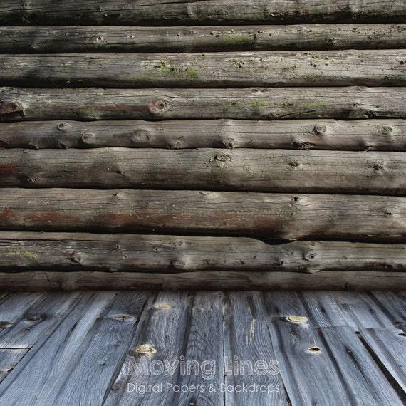 Timber Wall Baby Photography Backdrop Wood Cabin Log Wall