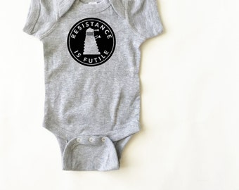 Doctor Who shirt for baby. Dalek bodysuit. Funny kid clothing. Cute!