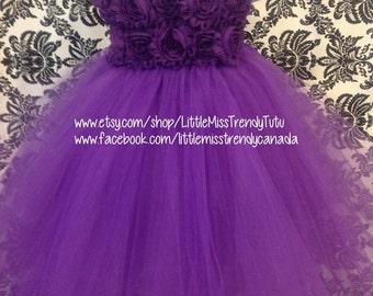 Purple Flower Girl Tutu Dress, Purple Tutu Dress, Violet Tutu Dress, Violet Flower Girl Dress, Purple Flower Girl Dress, Purple Tutu