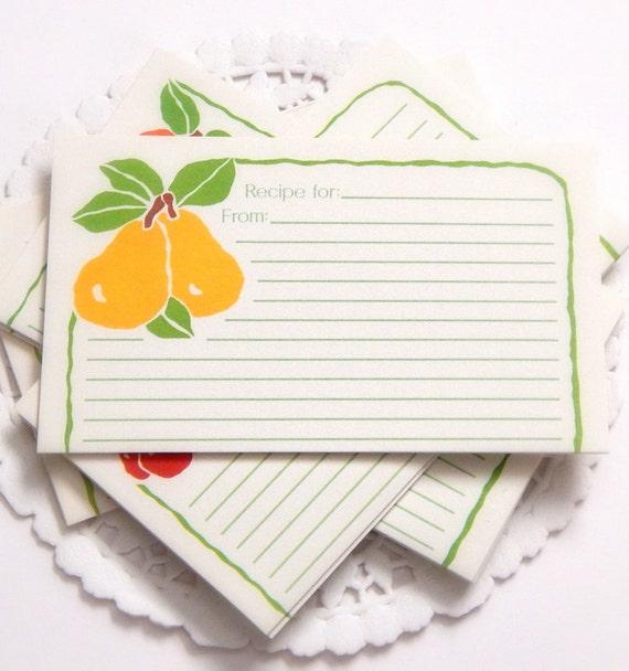 Vintage Recipe Cards. 3x5 Recipe Cards. Blank Recipe Cards.