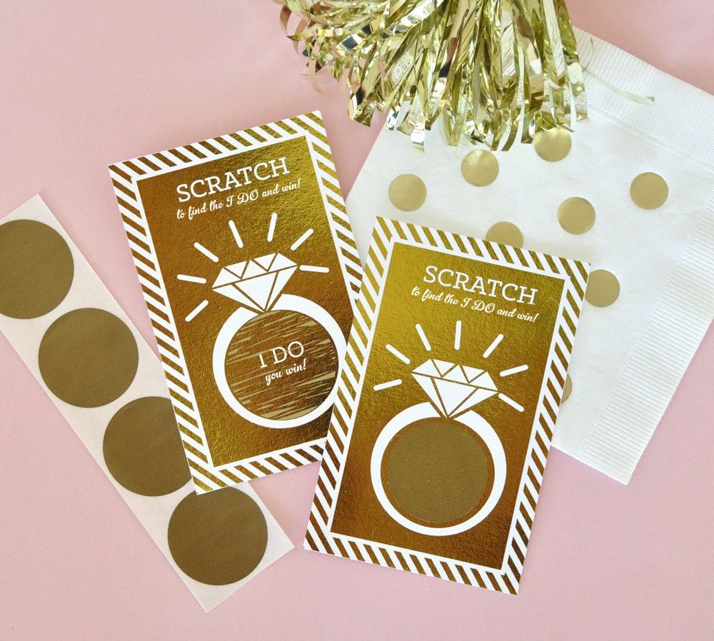 Scratch Weddings: Pink And Gold Bridal Shower Games Bridal Scratch Off Bridal