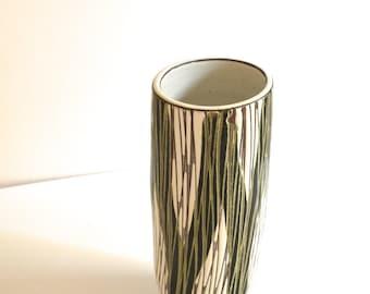 Mid Century Tall Upsala Ekeby Ceramic Vase