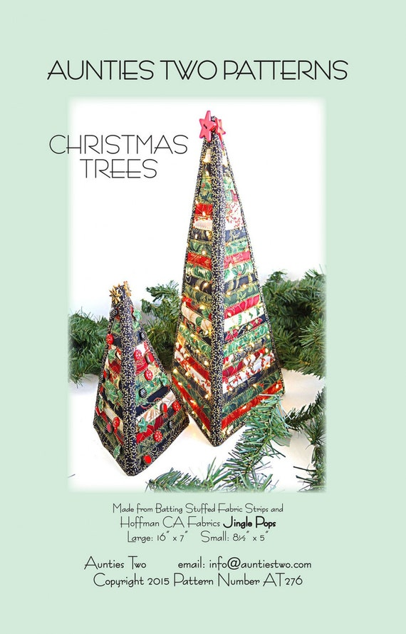 Christmas trees pattern by aunties two patterns at276 holiday