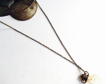 Lace Perfume Bottle Charm Necklace
